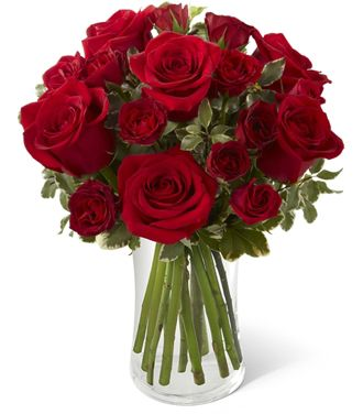 Flowers for usa - The Red Romance Rose Bouquet flowers