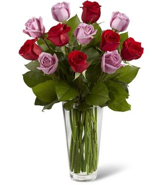 Flowers for usa - The Red and Lavender Rose Bouquet flowers