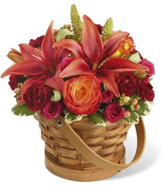 Flowers for usa - The Abundant Harvest Basket flowers