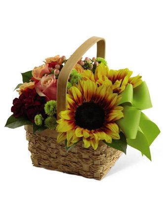 Flowers for usa - Bright Day Basket flowers