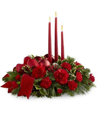 Flowers for usa - Lights of the Season Centerpiece flowers