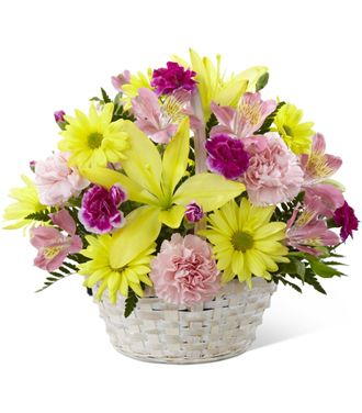 Flowers for usa - The Basket of Cheer Bouquet flowers