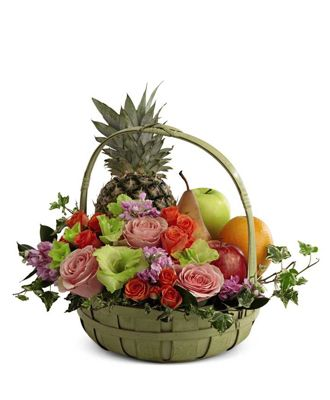 Flowers for USA - Fruit & Flowers Basket flowers