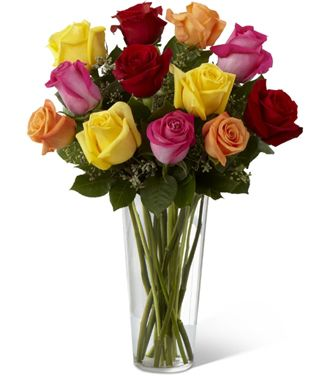 Flowers for usa - The Bright Spark Rose Bouquet flowers