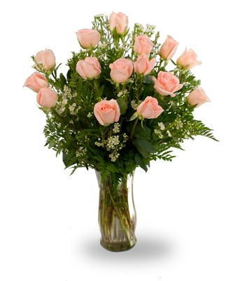 Flowers for usa - Fifteen peach roses flowers