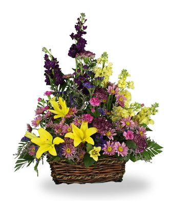 Flowers for usa - Treasured Memories Basket flowers