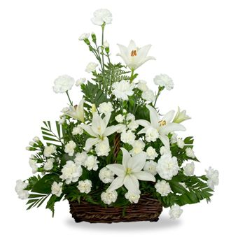 Flowers for usa - Serene Lily Basket flowers