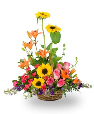 Flowers for usa - A basket of Mixed Garden Flowers flowers