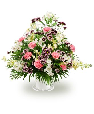 Flowers for usa - Mixed flowers in a handled basket flowers