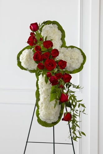 Flowers for usa - Floral Cross Easel flowers