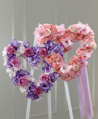 Flowers for usa - Hearts Eternal Easel flowers