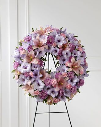 Flowers for usa - Sleep in Peace Wreath flowers