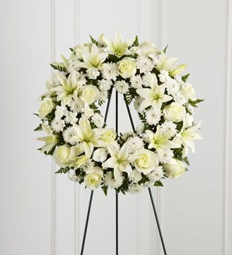 Flowers for usa - Treasured Tribute Wreath flowers