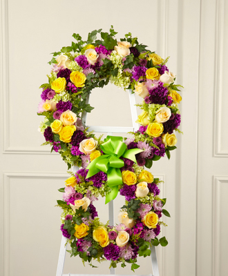 Flowers for usa - Eternity Standing Easel Wreath flowers