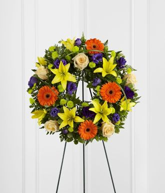 Flowers for usa - Radiant Remembrance Wreath flowers