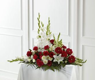 Flowers for usa - Crimson & White Arrangement flowers