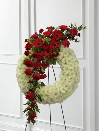 Flowers for usa - Graceful Tribute Wreath flowers