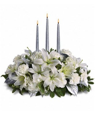 Flowers for usa - Silver Elegance Centerpiece flowers