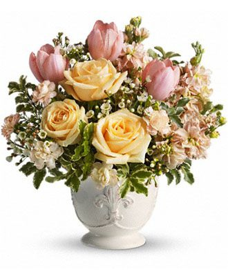 Flowers for usa - Teleflora's Peaches and Dreams flowers