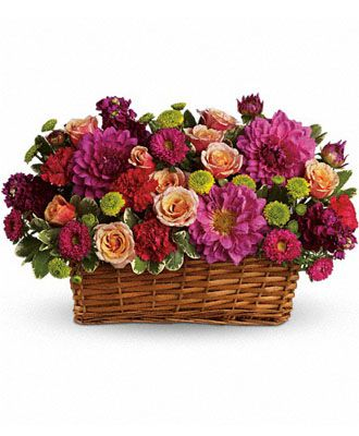 Flowers for usa - Burst of Beauty Basket flowers
