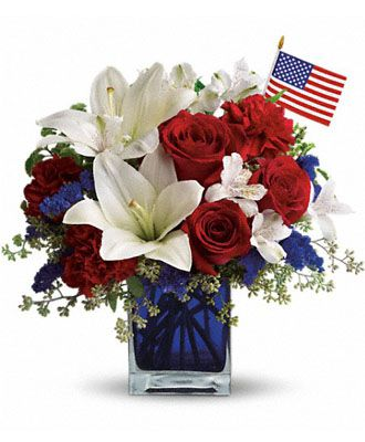 Flowers for usa - America the Beautiful by Teleflora flowers