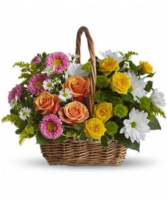 Flowers for USA - Sweet Tranquility Basket flowers