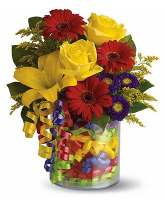 Flowers for usa - Teleflora's Birthday Ribbon Bouquet flowers