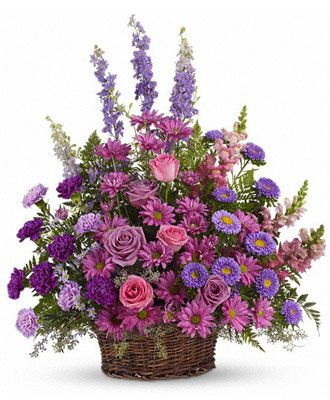 Flowers for usa - Gracious Lavender Basket flowers