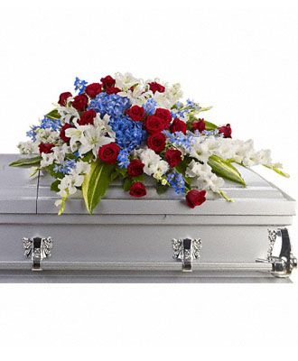 Flowers for usa - Distinguished Service Casket Spray flowers