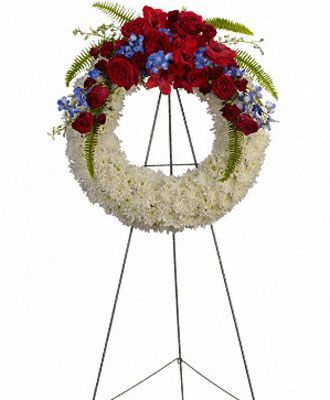 Flowers for usa - Reflections of Glory Wreath flowers