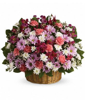 Flowers for usa - Rainbow Reflections Basket flowers