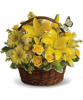 Flowers for USA - Basket Full of Wishes flowers