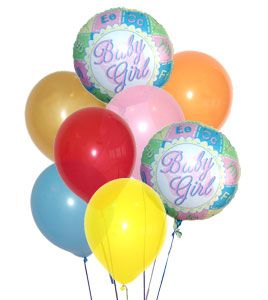 Flowers for USA - Baby Girl Balloon Bouquet flowers