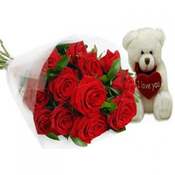 Abu Dhabi flowers  -  Bear Hug Flower Bouquet/Arrangement
