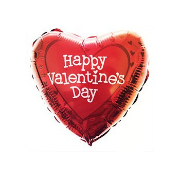 Malaga online Florist - Happy Valentine's Day Balloon Bouquet