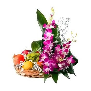 fleuriste fleurs de Sharjah- Jour Tropical Bouquet/Arrangement floral