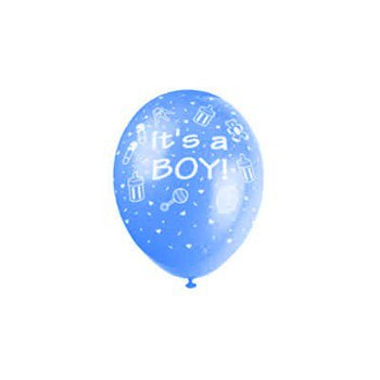 Wellington blommor- Boy and Girl Birthday balloon  Leverans