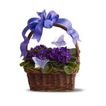 Umm Al Quwain online Florist - A basket of beauty Bouquet
