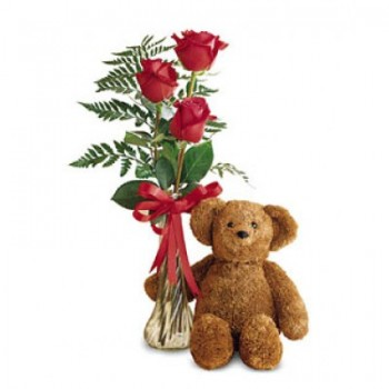 Marbella flowers  -  Teddy with Love Flower Bouquet/Arrangement