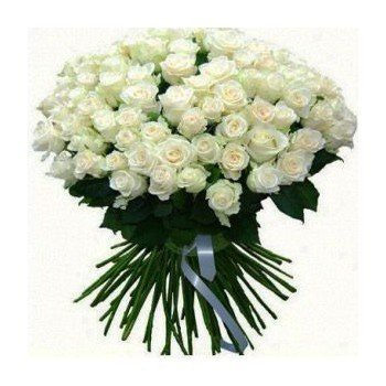 Barcelona flowers  -  Snow White Flower Bouquet/Arrangement