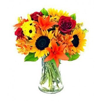 Casablanca flowers  -  Carnival Flower Bouquet/Arrangement