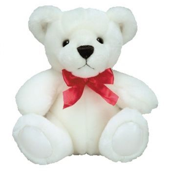 Malaga online Florist - White Teddy Bear Bouquet