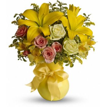 Beirut flowers  -  Citrus Kissed Flower Bouquet/Arrangement