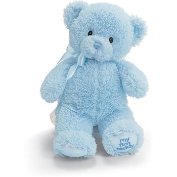 Pau flowers  -  Blue Teddy Bear  Delivery