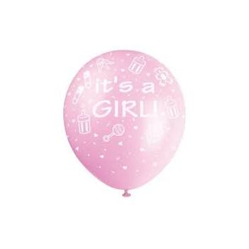 Zaragoza flowers  -  Its a Girl balloon  Delivery