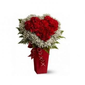 Milan flowers  -  Hearts and Diamonds Flower Delivery