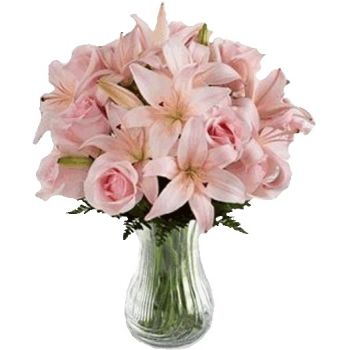 Latvia flowers  -  Pink Blush Flower Bouquet/Arrangement