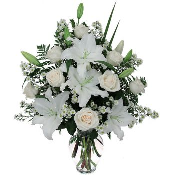 Northeast Thailand (Isan) flowers  -  White Beauty Flower Bouquet/Arrangement
