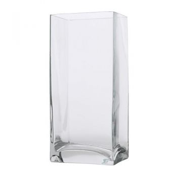 Bahrain Rectangular Glass Vase Flower Delivery 30 Cm