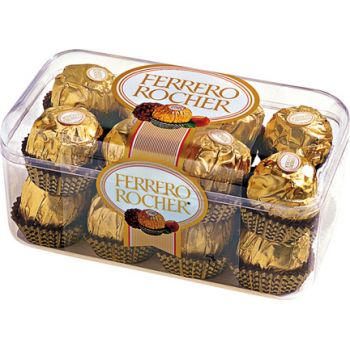 Rudny Kazakhstan flowers  -  Ferrero Rocher Chocolates  Flower Delivery